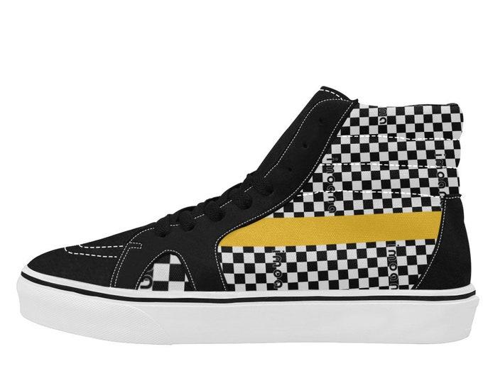 IMOANA chess high-top skate shoes.