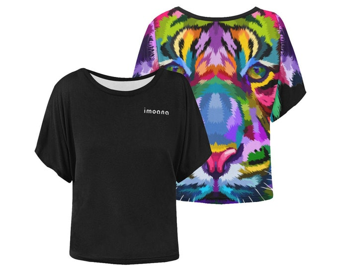 IMOANA colored tiger blouse t-shirt