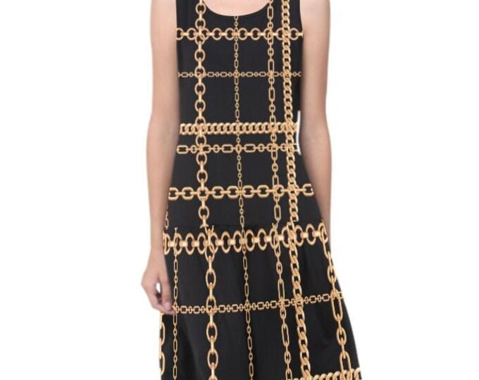 Chain dress with pleated flounce IMOANA.