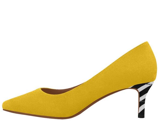 Stripes style low heel shoes décolleté IMOANA.