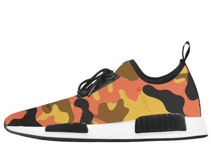 Camouflage sneakers with IMOANA bicolour sole.