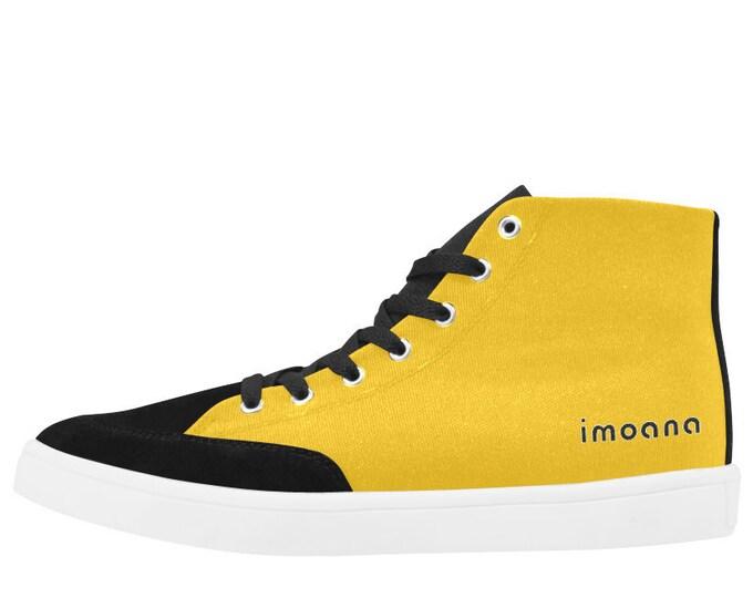 IMOANA yellow casual sneaker shoes.