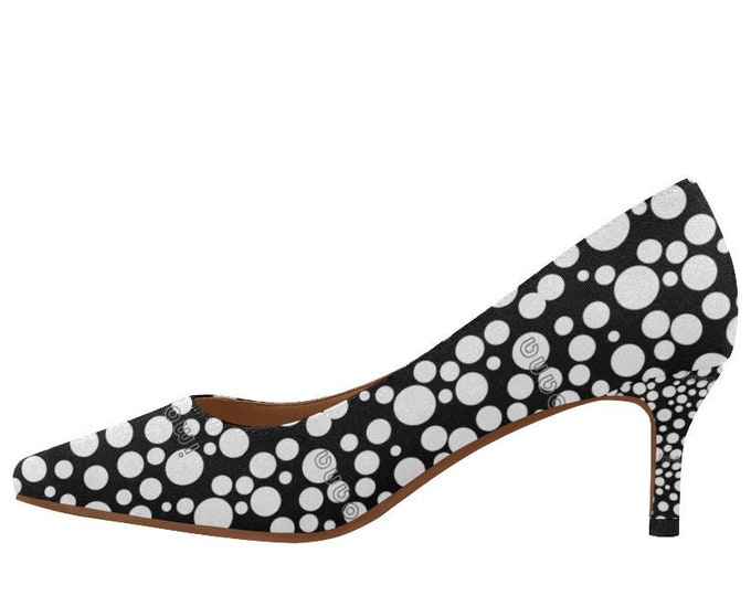 Polka dots style low heel shoes décolleté IMOANA.