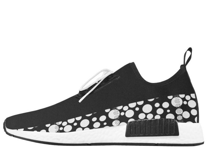 Polka dots sneakers with IMOANA bicolour sole.