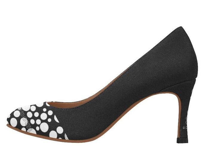 Medium-height shoes décolleté polka dots IMOANA.