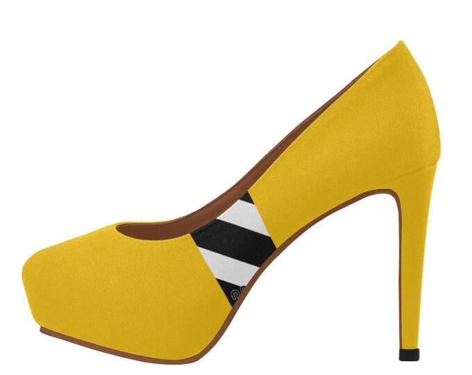 High shoes décolleté with platform stripes IMOANA.