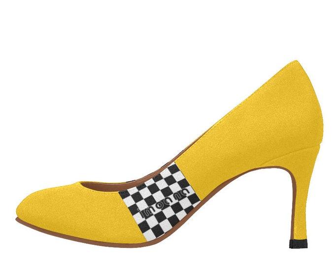 Medium-height shoes décolleté stripes IMOANA.