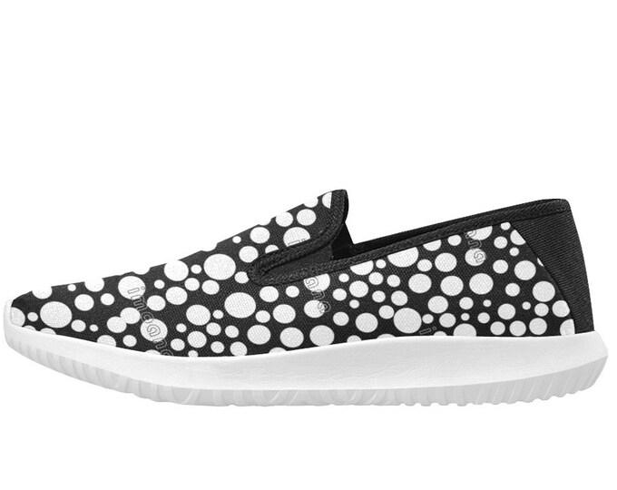 IMOANA polka dots style slip-on sports shoes.