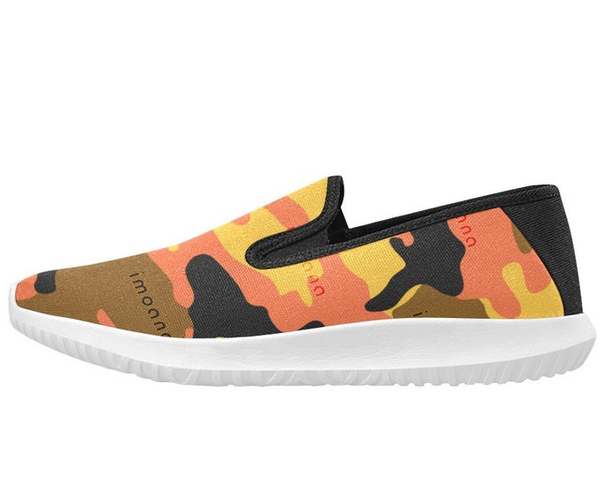 IMOANA camouflage style slip-on sports shoes.