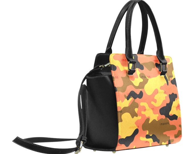 Camouflage shoulder bag with handles IMOANA.