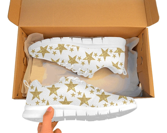 Breathable shoes with star glitter printing LIMITED EDITION free shipping