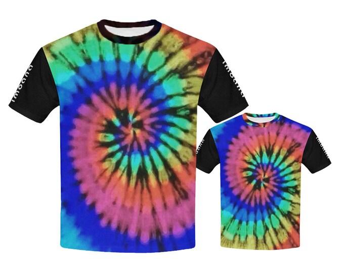 IMOANA tie-dye father-son t-shirts set