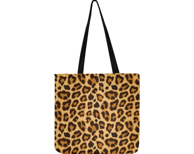 Leopard print shopping bag
