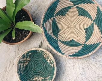 Set of 2 blue wall baskets