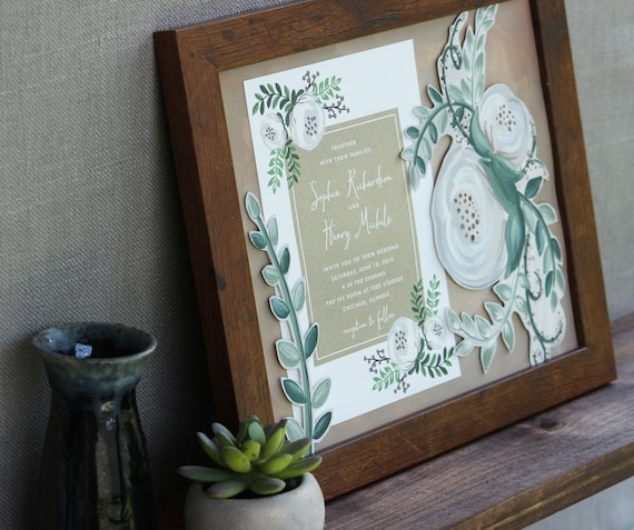 Thoughtful Wedding Gift For Couple Gift For Bride Framed Etsy