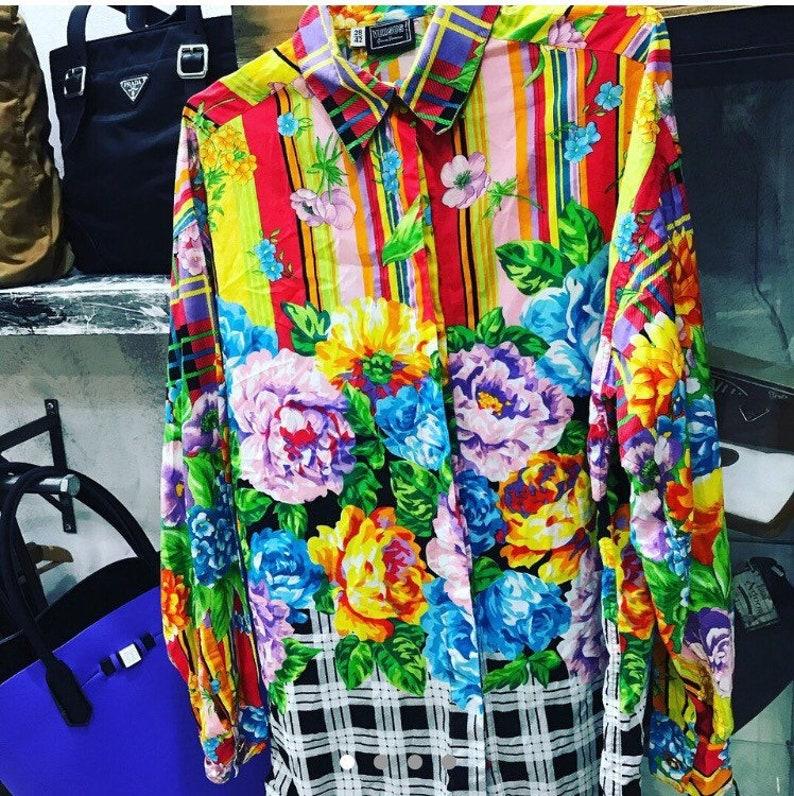 f52ef4c9 Sale VERSUS VERSACE shirt by Gianni Versace shirt floral | Etsy