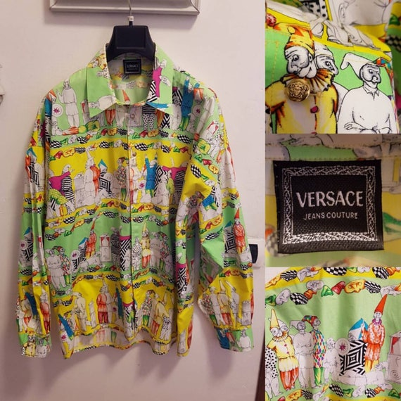f24baef48c6a Vente VERSACE Jeans Couture chemise Versace chemise Versace   Etsy