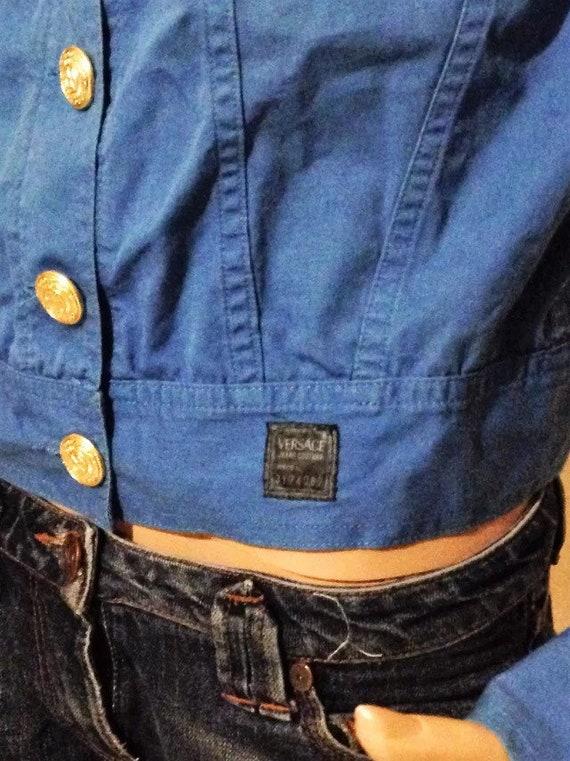 ... Vente • VERSACE veste de veste en Couture Jean bleu Versace Jeans  Couture en Versace Vintage ... 7a2bf5b2dce