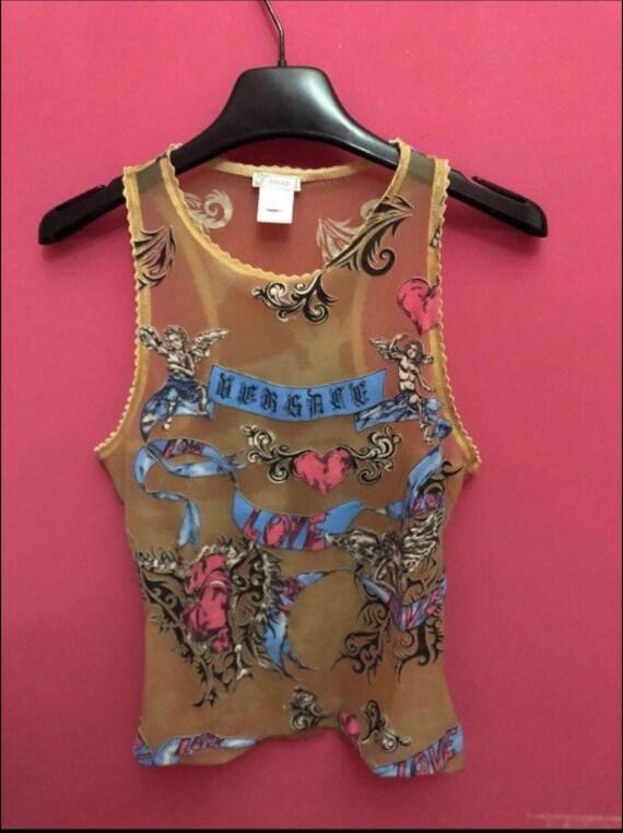 Vente • VERSACE top chemise t-shirt réservoirs par Gianni Versace t-shirt  chemise ... de70dffef1e