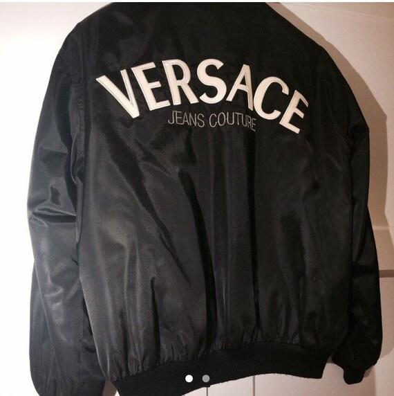 1242a2330cfa Vente VERSACE Jeans Couture Veste par Gianni Versace bomber   Etsy