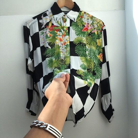 f246d9c63b7d Vente VERSACE chemise par Gianni Versace couture baroque   Etsy