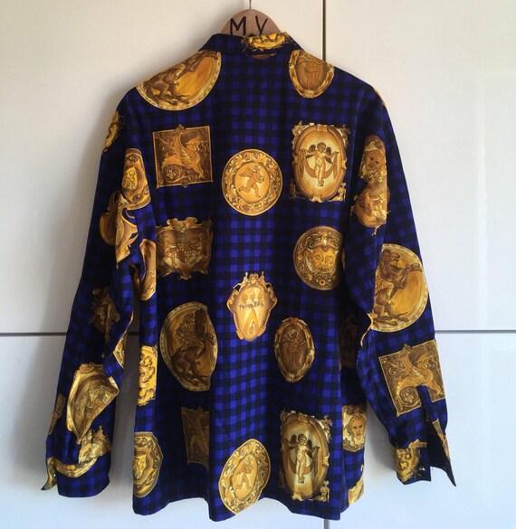 Vente VERSUS Shirt chemise Gianni Versace avec de lor de   Etsy d7e1caffa3b