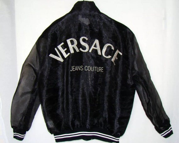 Sale VERSACE jacket by Versace jeans couture bomber jacket   Etsy 9694ff9c787