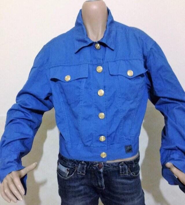 Vente • VERSACE veste de veste en Couture Jean bleu Versace Jeans Couture  en Versace Vintage ac2ff427f6a