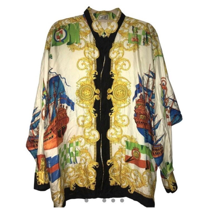 d01fa8d4 Sale GIANNI VERSACE shirt by Gianni Versace shirt gold | Etsy