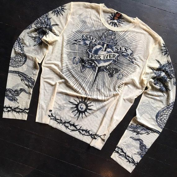 Unique Shirt Tribal Hand Printed No SizeFree Sized Vintage