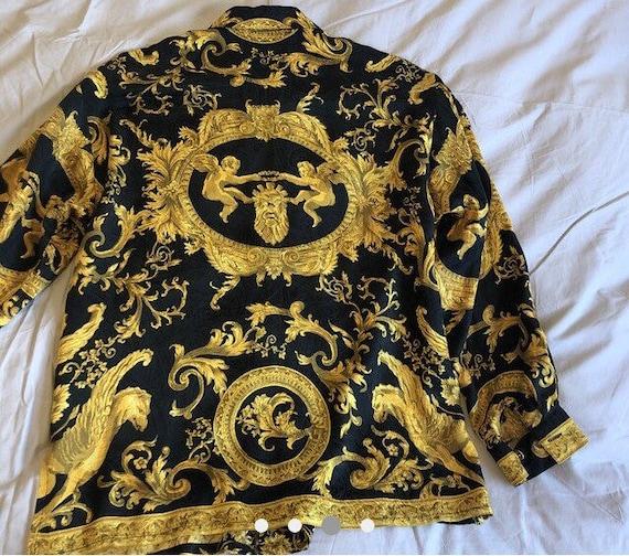 f7c640b844ed Vente VERSACE Jeans Couture chemise par Gianni Versace   Etsy