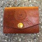 Minimalist Brown Leather Wallet Card Holder