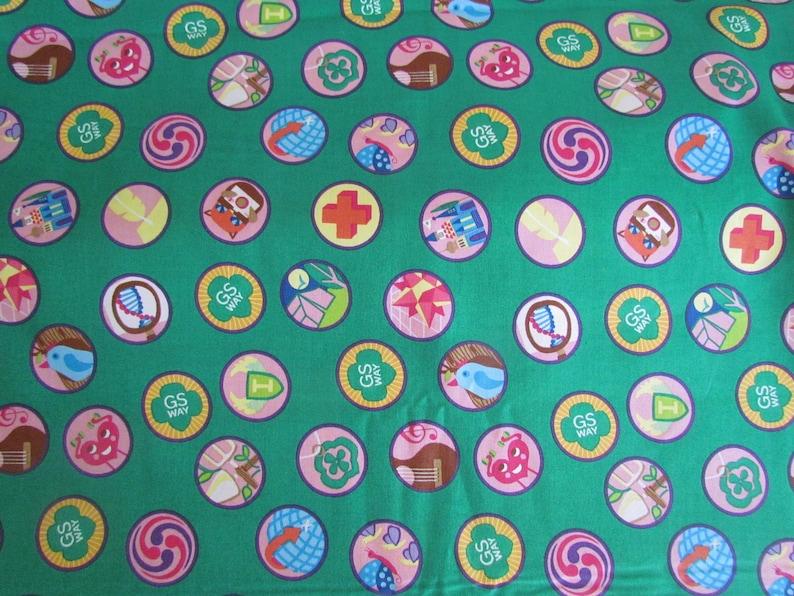 Fabric. Girl Scouts Junior Badges. Troop Leader Cookie Mom image 0