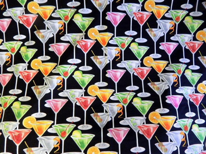 Fabric Cocktails with Glitter Margarita Martini image 0