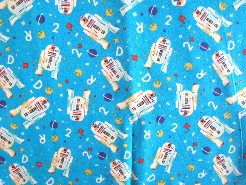 Retro Star Wars R2D2 Lucas Film Licensed Novelty Cotton Fabric QTR Camelot Fabric Fabric
