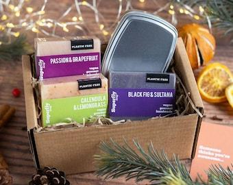 Three Body Soap Gift Set Travel Tin Option/ Eco-Friendly Gift Box / Superfly Soap Gift / Vegan Gift Set