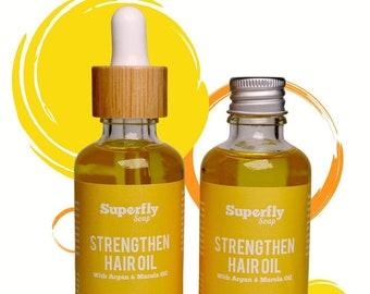 Strengthen Hair Oil 50ml with Argan & Marula Oil / Hair Serum / Zero Waste / Superfly Soap