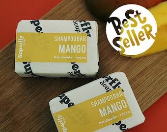 Mango Solid Shampoo Bar UK 100g-110g / SLS free Shampoo / Plastic Free / Zero Waste / Natural Vegan Soap Artisan / Superfly Soap