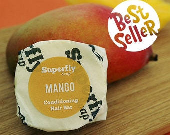 Mango Solid Conditioner Bar UK / Plastic Free / Zero Waste / Superfly Soap