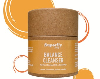 Balance Facial Cleanser with Apricot Kernel Oil & Rosehip / Face Cleanser / Zero Waste / Superfly Soap