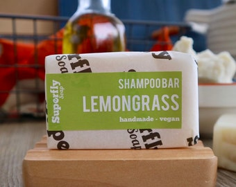 Lemongrass Solid Shampoo Bar UK 100g-110g / SLS free Shampoo / Plastic Free / Zero Waste / Natural Vegan Soap Artisan / Superfly Soap