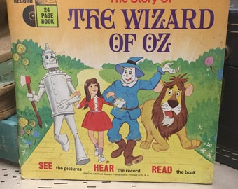 Wizard of Oz Book and 45 Record