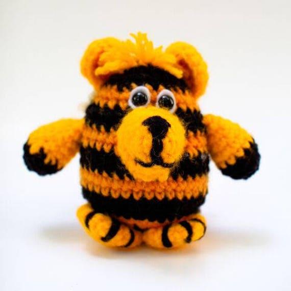 Crochet Tiger Toy Pattern Amigurumi Tiger Tiger Crochet Etsy