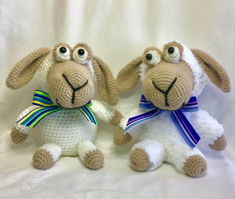 Sheep Crochet Pattern Lambs Crochet Sheep Toy Nursery Toy Etsy