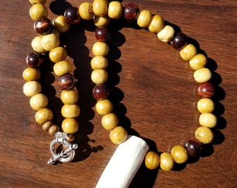 Alligator tooth necklace (Florida State theme)