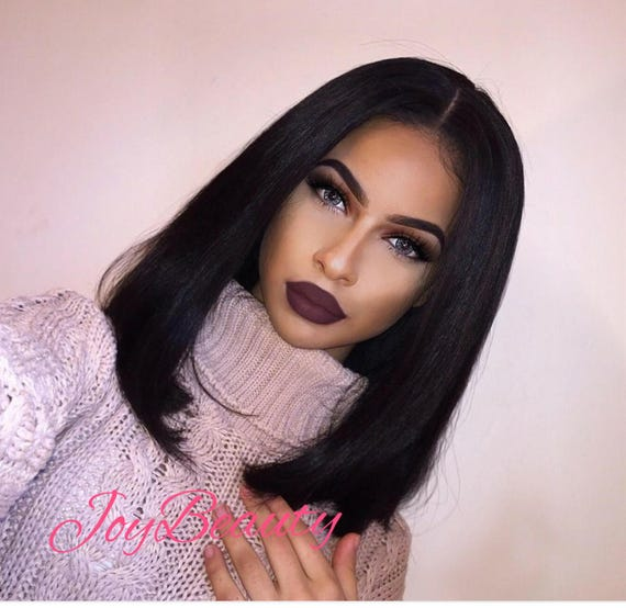 Bob Frontal Lace Wig Virgin Human Hair With (Middle part)