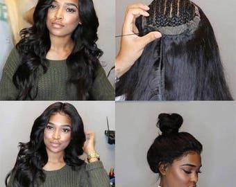 360 Lace Closure Peruvian Malaysian Human Hair