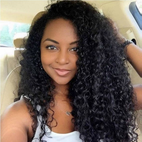 Curly Full lace WIG Unprocessed Virgin Human