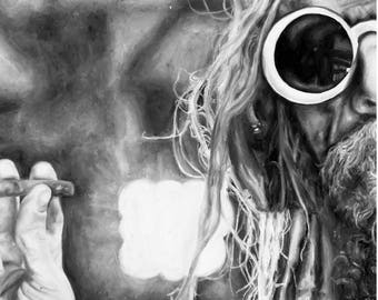 The Devil's Rejects, Rob Zombie, Painting, Signed Art Print