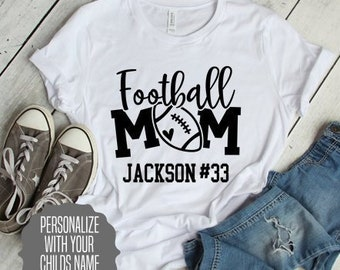 2f4bb122 Football Mom Shirt Personalize with Players Name and Number, Gift For Mom,  Mom Football Shirt